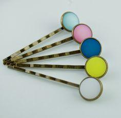 Haarnadeln & -Klemmen - 5 Haarklammern, Haarspangen BonBon Polaris - ein Designerstück von mias-cabo-schmuck bei DaWanda