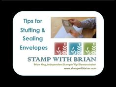 quick tip video: Stuffing and Sealing Envelopes - YouTube ... Brian has a couple really usedful tips in this short video ...