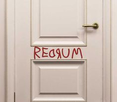 REDRUM Door decal from The Shining on Storenvy