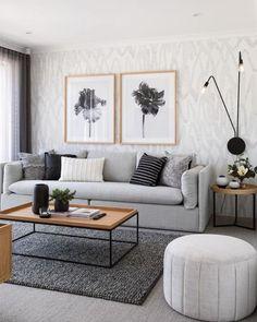 Home Living Room, Interior Design Living Room, Living Room Designs, Apartment Living, Modern Small Living Room, Cozy Apartment, Small Living Room Wallpaper Ideas, Living Room Ideas For Small Rooms, Modern Room