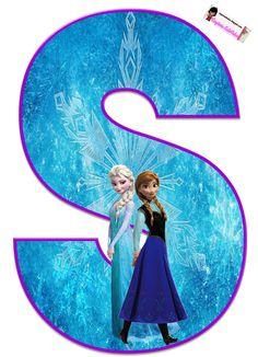 Frozen: Free Elsa and Ana Alphabet. Frozen: Bello Alfabeto Gratis de Elsa y Ana. Frozen Birthday Party, Frozen Tea Party, Frozen 6, Frozen Free, Disney Frozen Birthday, Frozen Cupcake Toppers, Frozen Cupcakes, Princesa Disney Frozen, Disney Princess Frozen