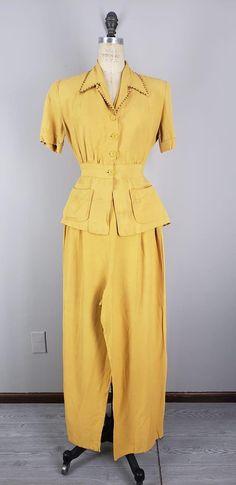 Cute Blouses, 1940s, Jumpsuit, Pants, Dresses, Fashion, Overalls, Trouser Pants, Vestidos