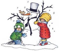 Hm9460 Clear stamp I love snowmen