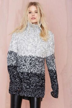 I would LIVE in this | Glamorous Grayed Out Sweater Tunic | Shop The Temp Drop Shop at Nasty Gal