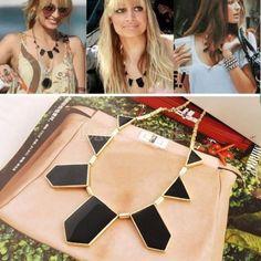 Stylish Personalized Black Geometric Shape Choker Disposition Bib Necklace