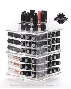 The Spinning Lipstick Tower Acrylic Makeup by Zahrabeautyshop