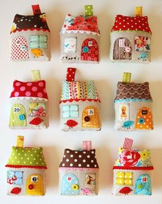 Cute little patchwork pin-cushions