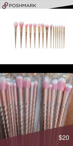 Rose gold makeup brushes Beautiful rose gold make up brushes! Get yours today perfect for a Valentines present! Makeup Brushes & Tools