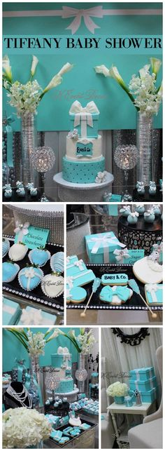 You have to see this gorgeous Tiffany baby shower!  See more party ideas at CatchMyParty.com!