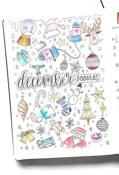 December winter doodles christmas doodles bullet journal doodles by. Bullet Journal Christmas, December Bullet Journal, Bullet Journal Set Up, Bullet Journal Cover Page, Bullet Journal Tracker, Bullet Journal Ideas Pages, Bullet Journal Layout, Bullet Journal Packing List, Bullet Journal Doodles
