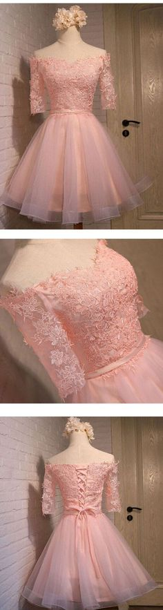 Long sleeve lace pink short homecoming prom dresses, - - Long sleeve lace pink short homecoming prom dresses, Source by Sposadresses Cute Homecoming Dresses, Cute Dresses, Short Dresses, Prom Dresses, Wedding Dresses, Pink Shorts, Classy Dress, Dream Dress, Dress Making