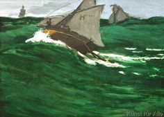 Claude Monet - La vague verte