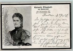 Trauerkarte Kaiserin Elisabeth 1898 AK