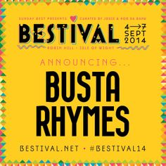 Woo Hah! Busta Rhymes is coming to Bestival for his first ever UK festival appearance!!   http://2014.bestival.net/news/busta-rhymes-comes-to-bestival