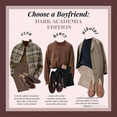 """𝓮𝓵𝓵𝓮 🌿 on Instagram: """"Who did you choose? I'm partial to Ezra.  _ #niche #nicheaesthetic #moodboard #moodboardaesthetic #lookbook #winter #aesthetic #tumblr…"""" Pretty Outfits, Cool Outfits, Fashion Outfits, Aesthetic Fashion, Aesthetic Clothes, Vintage Outfits, Vintage Fashion, Mein Style, Mode Vintage"""