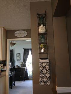 Mount a metal CD tower on kitchen or bath wall as shelf hand towel holder Refurbished Furniture, Home Decor Furniture, Furniture Makeover, Upcycled Home Decor, Diy Home Decor, Repurposed, Dvd Rack, Shabby Chic Salon, Bookcase Shelves