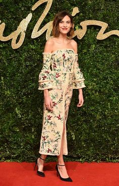 Alexa Chung attends the British Fashion Awards 2015 at London Coliseum on 23rd November, 2015 in London, England.