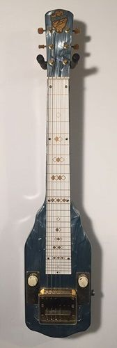 """This great piece of vintage """"Americana"""" lap-steel guitar is in excellent condition. Very collectable, very playable.   Comes complete with the rare, original hard shell case."""