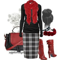 """""""Untitled #400"""" by sapphire-angel on Polyvore...I want red boots!!"""