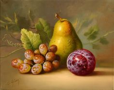 alfredo gomez still-life 13 Fruit Painting, China Painting, Still Life Fruit, Pyrus, Autumn Scenes, Principles Of Art, Painting Still Life, Still Life Photography, Watercolor Art