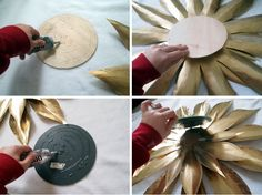 How to make your own Vintage-esque STarburst Mirror {Sawdust and Embryos}
