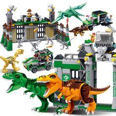 Jurassic Dinosaur world Park Toys Figures Tyrannosaurs Rex Minifigure Building Blocks Kids Toys Compatible Bricks With Leg0 ..