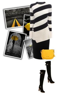"""""""striped"""" by noconfessions ❤ liked on Polyvore featuring Alexander McQueen, MICHAEL Michael Kors and Report"""