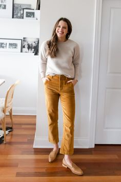 Everlane Fall/Winter Items: Late Fall Capsule - The Golden Girl Casual Work Outfits, Work Attire, Fall Outfits, Mustard Pants, Fall Capsule Wardrobe, Autumn Winter Fashion, Fall Winter, Fall Fashion, Golden Girls