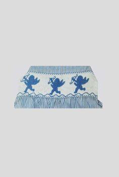 Infant/Toddler Girl Blue Stripe Seersucker Smocked Love Angel Bubble