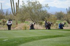 News media from around the world in Marana, AZ during the Accenture Match Play Championship