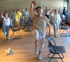 senior male physical therapy patient exercising elderly