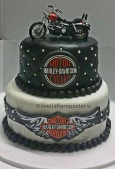 harley davidson motos cake tortas arte comestible