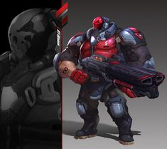 ArtStation - The red skull and death squads, WenXu Xu