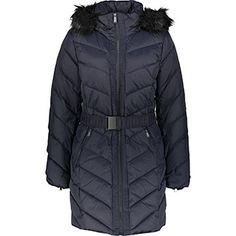 DKNY Navy Blue Down Padded Parka Winter Coats, Winter Jackets, Berlin Christmas, Parka, Navy Blue, Fashion, Moda, Winter Vest Outfits, Fashion Styles