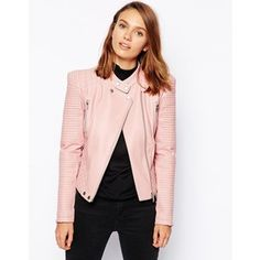 ASOS Leather Look Biker Jacket with Structured Shoulder - says it all!