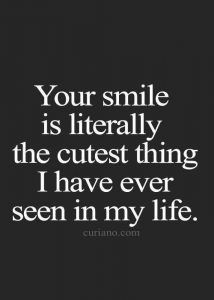 Smile Quotes For Her Cute Quotes To Make Her Smile Smilequotes Cutequotes Inspirationalquotes Baequotes Quo Cute Crush Quotes Crush Quotes Smile Quotes