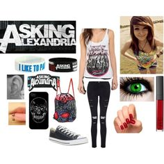 """Asking Alexandria concert outfit"" by johanna-kat on Polyvore"