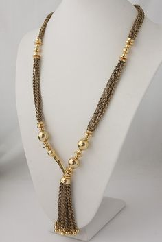 SD Bianca Tassel Necklace. Click here: www.serenajewelry.com #necklace…