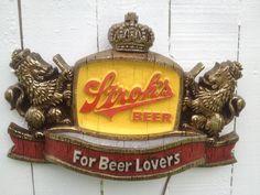 Vintage Strohs Beer Sign Lights by avintagerevolution