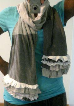 ruffly t-shirt scarf