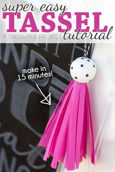 Follow this super easy Tassel Tutorial to make one in less than 15 minutes! Easy to customize to match any decor.
