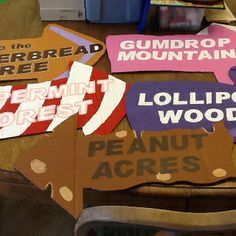 Candyland party- signs