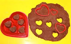 Homemade Chocolate Play Dough - with real cocoa in it - this truly smells fabulous!