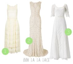 More high street wedding dresses for the budget bride! :) Ooh la la lace dresses