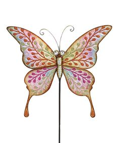 Look at this Metal Butterfly Garden Stake on #zulily today!