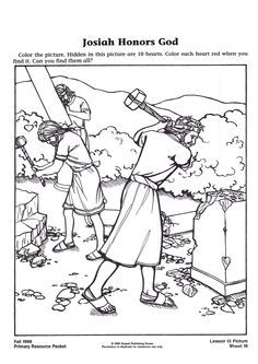 The Torah itself states the Torah was lost, then - *found* - 2 Kings 22 .the new version wiped out the old ways the people had lived Preschool Activity Sheets, Abc Preschool, Bible Activities, Sunday School Activities, Sunday School Crafts, Bible Coloring Pages, Coloring Sheets, Colouring, King Josiah