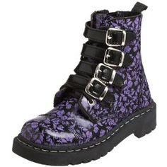 doc martens boots | Vegan strappy floral doc Marten look boots | Vegan Shoe Addict