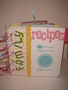 MiNi Kitschy ReCiPE aLBuM ___byCraftyClippingsbyPeg using from my kitchen cartridge