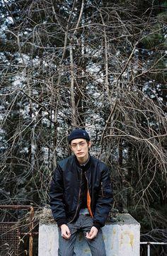 Korean Fashion Men, Mens Fashion, Pretty Boys, Winter Jackets, Poses, Photography, Concept, Mood, People