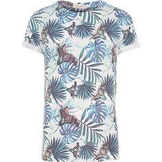 White palm tree leaf print t-shirt - £35 #RImenswear